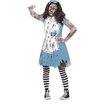 Traje de Zombie Tea Party, Teen S