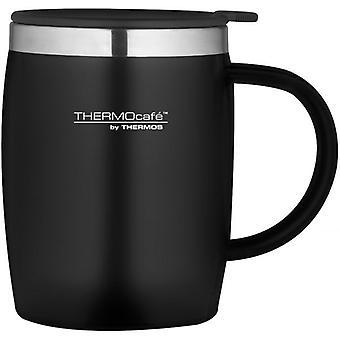 Thermos Black 450ml ThermoCafe Soft Touch Desk Mug