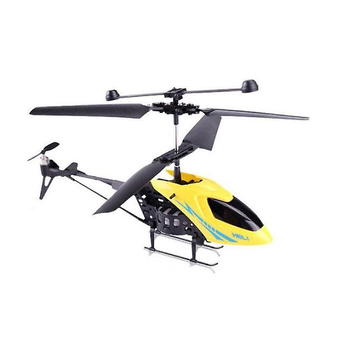 Stuff Certified® Desert Hawk Drone RC Mini Helicopter Toy Gyro Yellow Lights