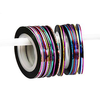5 pc's rollen Nail tape Nail Art strepen