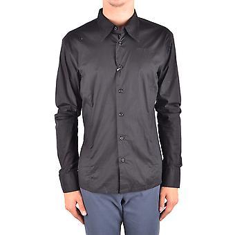 Bikkembergs Ezbc101065 Hombres's Camisa de Algodón Negro