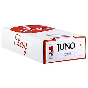 Vandoren Juno Pack of 50 Alto Sax Reeds in Strength 2