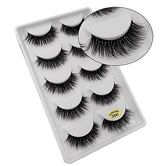 5-pair false eyelashes-3D faux mink-G601