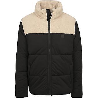 Urban Classics Herren Winterjacke Sherpa Mix Boxy Puffer Jacket