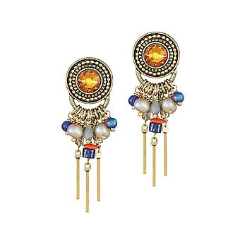 Eternal Collection Emmanuelle Blue Multi Semi Precious Beaded Gold Tone Drop Pierced Earrings Eternal Collection Emmanuelle Blue Multi Semi Precious Gold Tone Drop Pierced Earrings Eternal Collection Emmanuelle Blue Multi Semi Precious Gold Tone Drop Pierced Earrings Eternal Collection