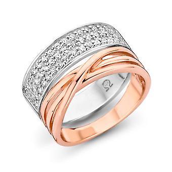 Ring rosegold/sølv Zirc ZR-7205