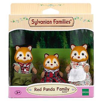 Sylvanian familjer röd Panda familj