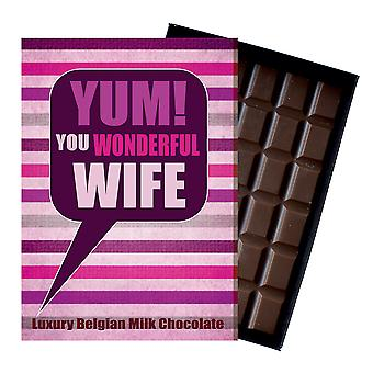 Gift for Wife for Anniversary Birthday or to Say Thank You Chocolate Greetings Card Present for Her YUM106