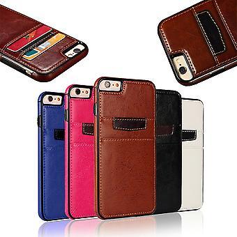 Iphone 7/8/se (2020) - Glatte Brieftasche Shell / Ledertasche