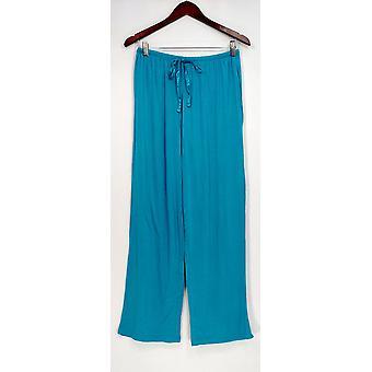 Carole Hochman Women's Lounge Pants Modal Spandex Satin Blue A292529