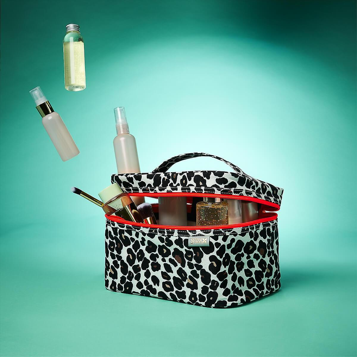 'edie' vanity case in leopard tan