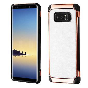 ASMYNA White Lychee Grain(Rose Gold Plating)/Black Astronoot Protector Cover  for Galaxy Note 8
