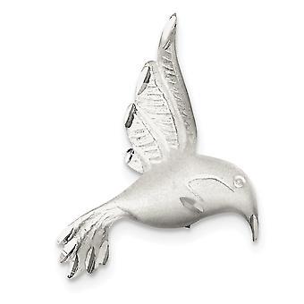 925 Ayar Gümüş Saten Kaplama Parıltı Kesim Uğultu Kuş Pin Takı Hediyeler Kadınlar için - 4.6 Gram