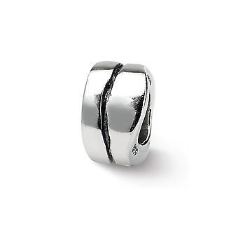 925 sterling sølv antikke finish refleksioner SimStars bølgede spacer perle charme