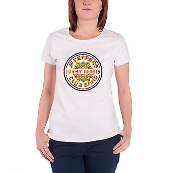 Die Beatles T Shirt Sgt Pepper Drum neue offizielle Womens super Skinny Fit