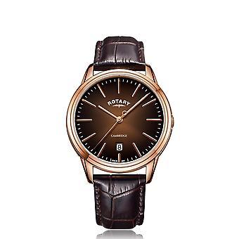 Rotary GS05394-16 Men's Cambridge Rose Gold Tone Wristwatch