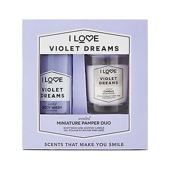 Giftset I Love... Miniature Pamper Duo Violet Dreams