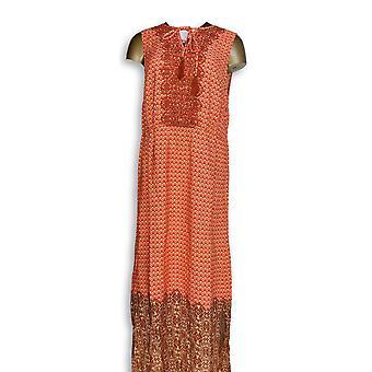 Isaac Mizrahi Live! Kleid Geo gedruckt Maxi Kleid rosa A264685