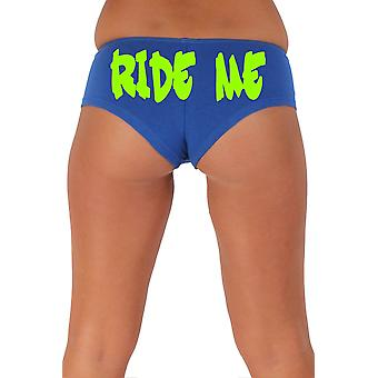 Vrouwen ' s Green Ride me 2 Booty shorts