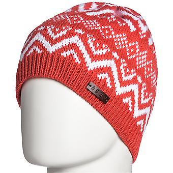 Roxy Anna Fleece Lined Beanie in Hot Coral