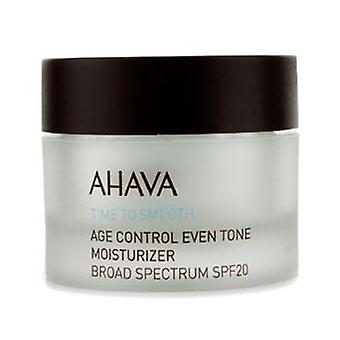 Ahava Time To Smooth Age Control Even Tone Moisturizer Spf 20 - 50ml/1.7oz