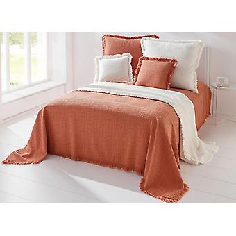 Heine home day blanket bed cover with fringe end high/deep structure in offwhite
