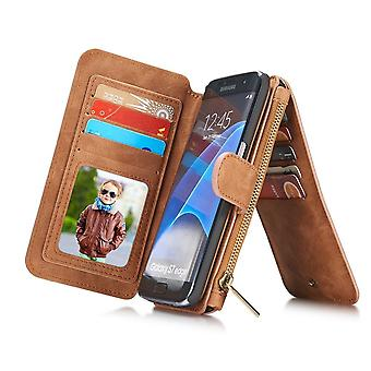 Case For Samsung Galaxy S7 Edge Multifunction Portfolio Brown