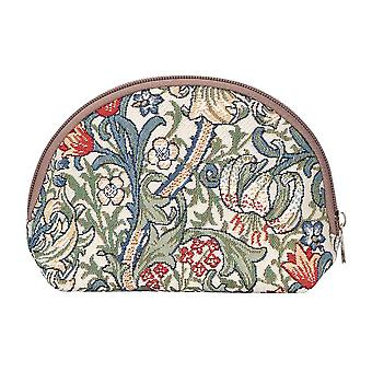 William morris - golden lily cosmetic bag by signare tapestry / cosm-glily