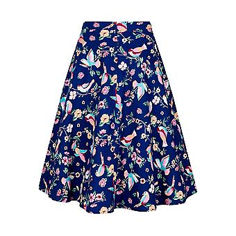Collectif Vintage Women's Flared Tammy Paper Pin-Up Doll Skirt
