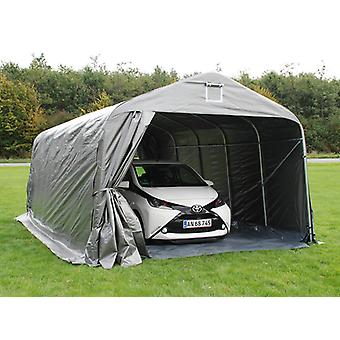 Portable garage PRO 3.6x7.2x2.68 m PE with ground cover, Grey