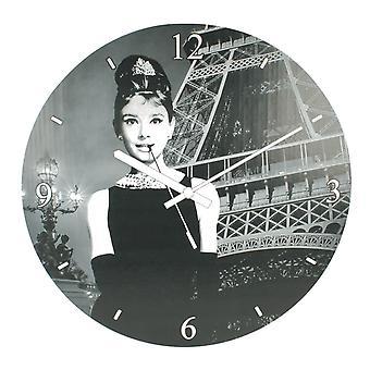 Lesser & Pavey Wall Clock Audrey Hepburn LP26626