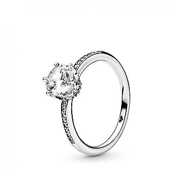 Pandora Ring 198289CZ - Women's Colorless Glittering Crown