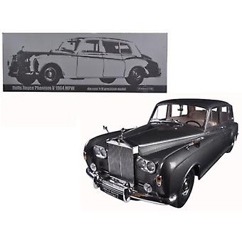 1964 Rolls Royce Phantom V MPW Gunmetal Grey LHD 1/18 Diecast Model Car par Paragon