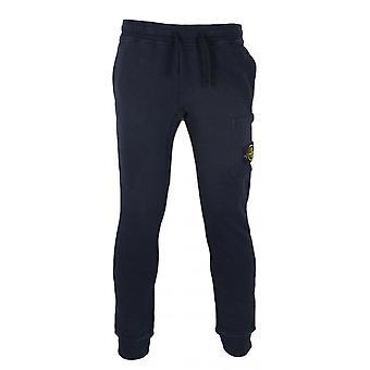 Pantaloni de bumbac bleumarin din piatră