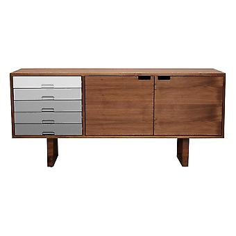 Fusion Living Scandi Style Walnut And Grey Sideboard