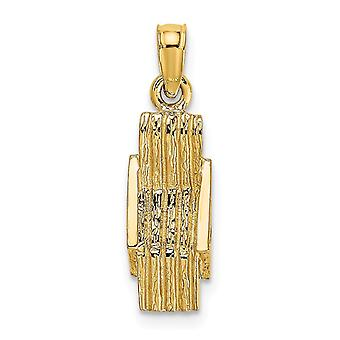 14k Gold 3 d Lounge Beach Chair Charm Jewelry Gifts for Women - 1.0 Grams