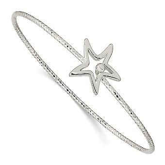1.75mm 925 Sterling Silver Sparkle Cut Star Interlocking Cuff Stackable Bangle Bracelet Jewelry Gifts for Women