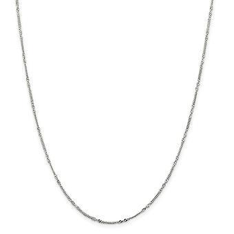 925スターリングシルバー1.46ミリメートルツイストカーブチェーンネックレスジュエリーギフト女性のための - 長さ:16〜18
