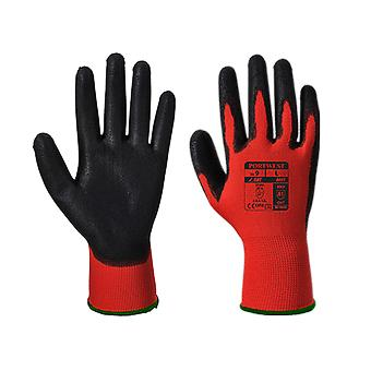 Portwest red cut workwear gloves - pu a641