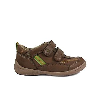 Startrite Supersoft Leo Brown of Navy Leather Boys Rip Tape Casual Schoenen