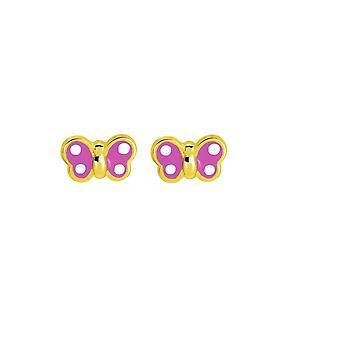 Gold Schmetterling Ohrringe 375/1000 gelb (9K)