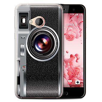 STUFF4 Gel TPU Case/Cover for HTC U Play/Alpine/Vintage/Camera