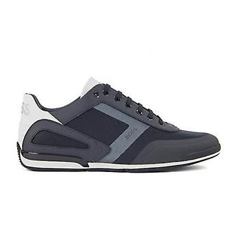 Hugo Boss Footwear Hugo Boss Men's Dark Blue Saturn Lowp Act4 Trainers