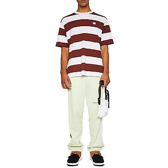 Acne Studios Cl0056295 Donne's T-shirt di cotone bianco/marrone