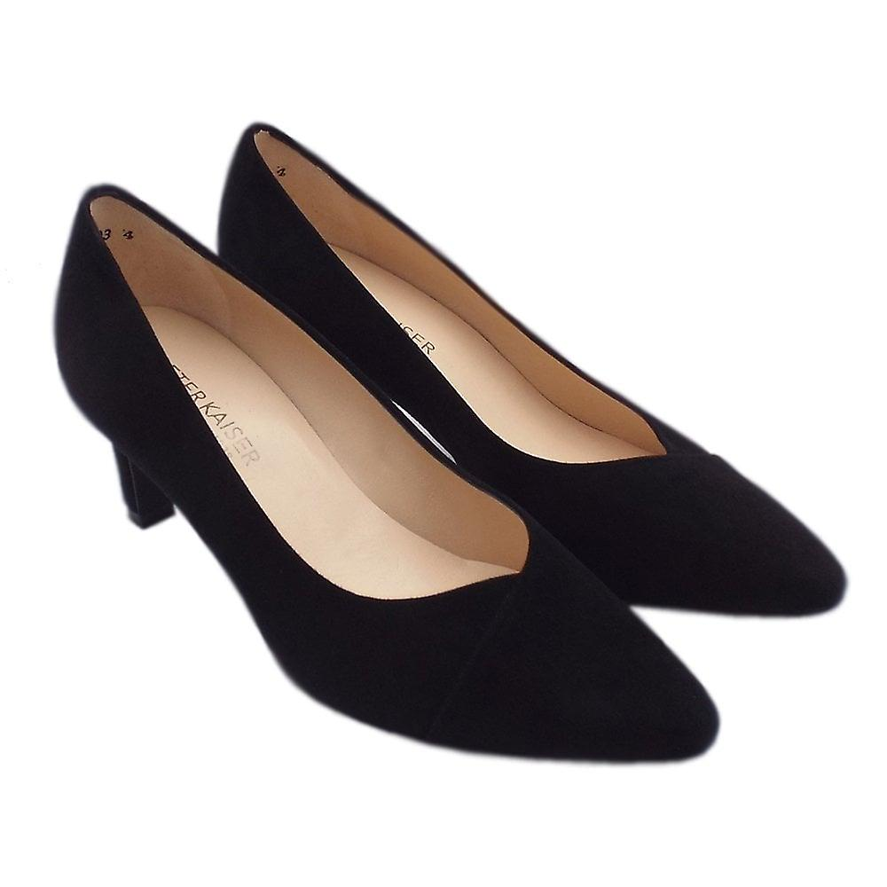 Peter Kaiser Maike Classic Court Shoes In Black Suede