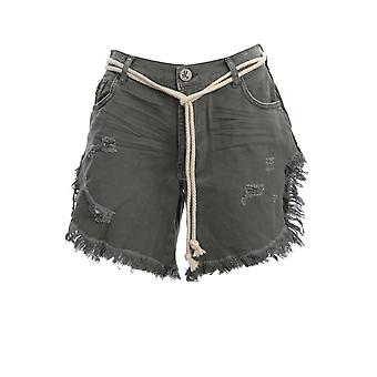 Oneteaspoon 22994khaki Women's Green Cotton Shorts