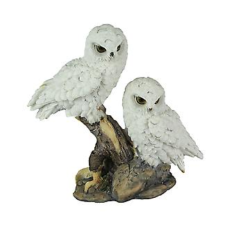 Owl Be There For You Snow White Owl Couple Decorative Tabletop Statue