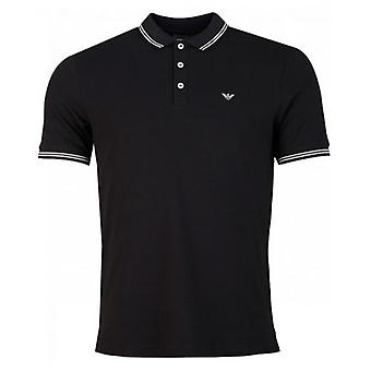 Armani Slim Fit Tipped Logo Polo