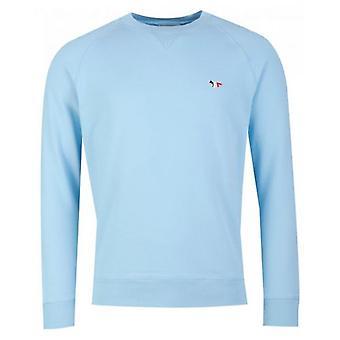Maison Kitsune Tri Colour Fox Patch Sweatshirt