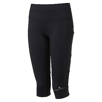 Ronhill Womens Stride Stretch Capri (cropped Running Tights) All Black (ss20)
